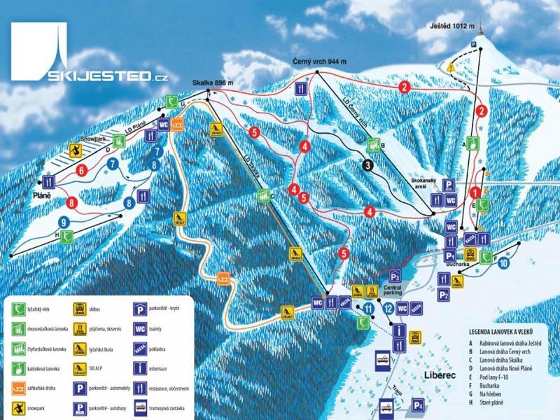 Ski areál Ještěd - Liberec