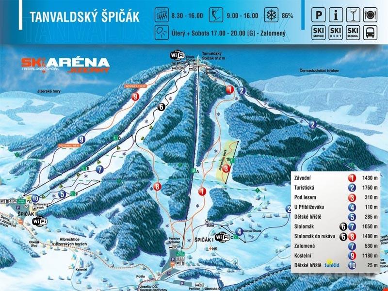 Ski areál Tanvaldský Špičák  - Tanvald