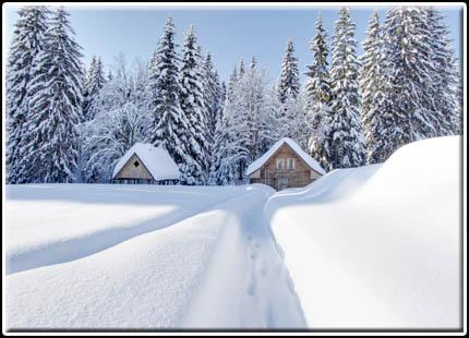 Hotel Perla Jizery - zasněžená sauna