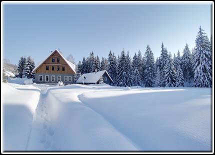 Hotel Perla Jizery - hotel v zimě